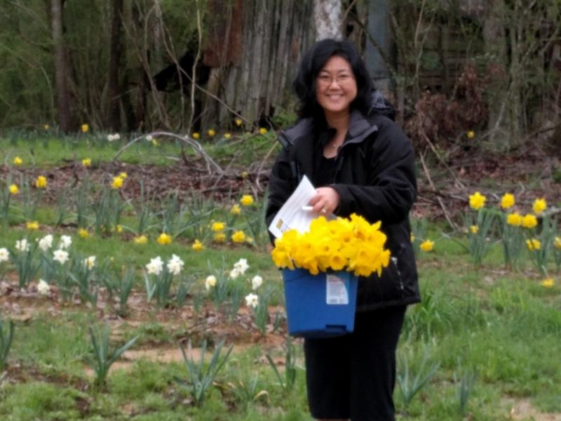 Jen Picking Blooms - 2016